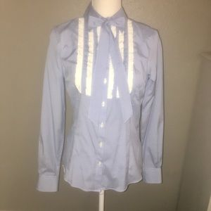NWOT SZ 4 BROOKS BROS TUXEDO BLOUSE W/DETACHED TIE